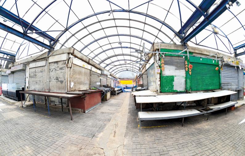 מתחם השוק העירוני אחרי הסגירה