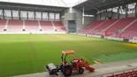 העבודות באצטדיון 'טרנר'. הושמש לפעילות הקיץ