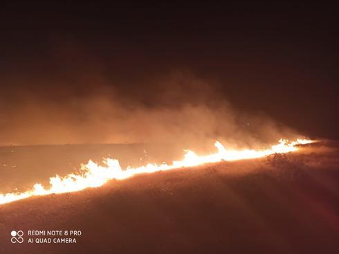 השריפה בשכונת רמות בבאר שבע