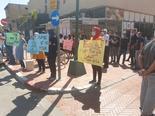 הפגנה מול תחנת משטרת באר שבע