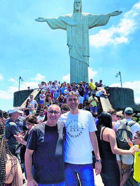 שי חג'ג' (מימין). כיף בברזיל