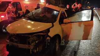 אחד מכלי הרכב המעורבים בתאונה