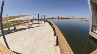 """מראה כללי של האגם. """"מוקד משיכה ופיתוח לאזור כולו"""""""