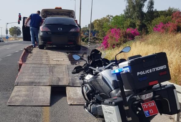 החרמת רכבו של הנהג שנתפס בלי רישיון