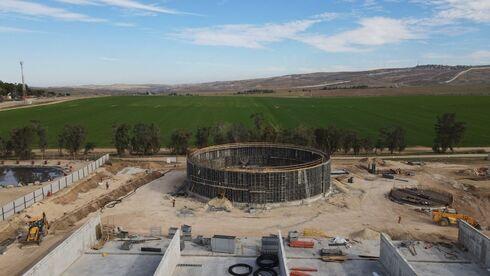 מתקן הביו גז בתהליכי בנייה, לפני מספר חודשים