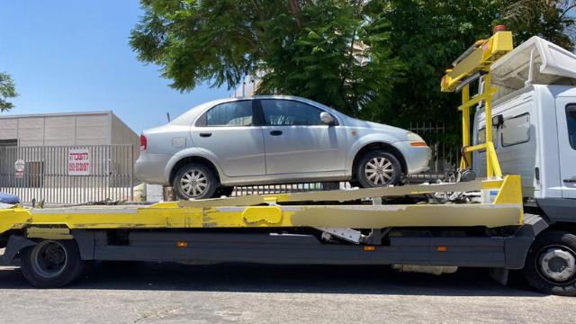הרכב שנתפס