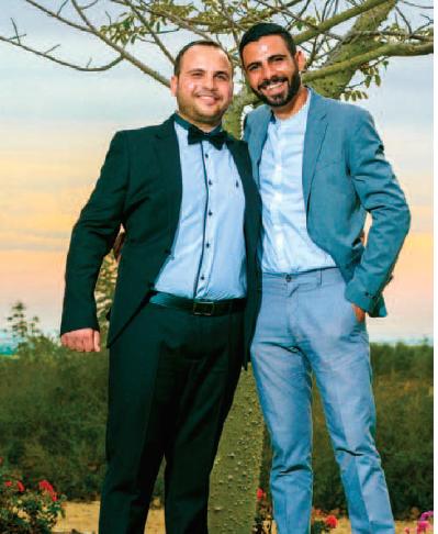 איציק סעידיאן בחתונה של אחיו אבי