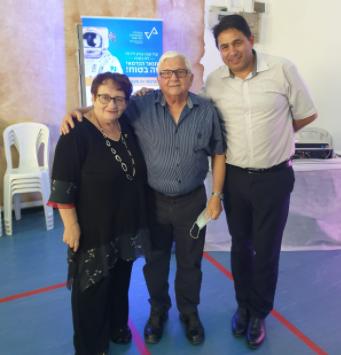 מימין: יעקב דור, דב תמיר ומינה קלמן חדד
