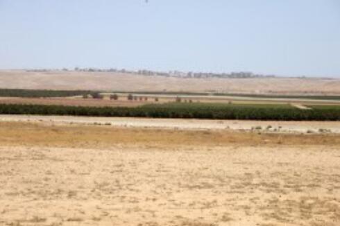 איזור תל ערד בו צפויה לקום העיר כסיף