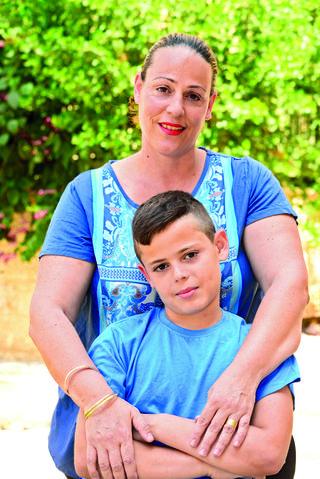 סלעית סבח ובנה. צילום: הרצל יוסף