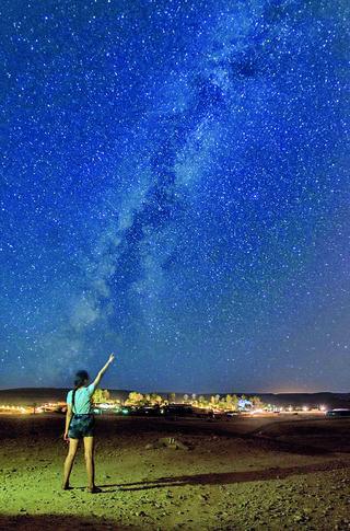 מטאורים, כוכבים ושמי הלילה בכפר הנוקדים ליד ערד. צילום: יוני גריצנר