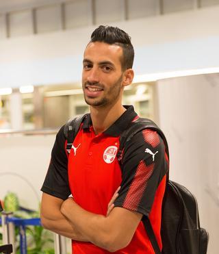 שחקן נבחרת ישראל דן איינבינדר | צילום: עוז מועלם