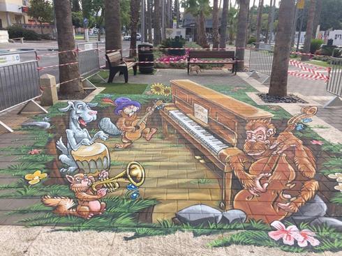 פסטיבל ציור מדרכות בתל מימד. צילום: ג'קי בכר הפקות
