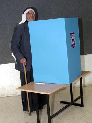 קלפי, בחירות, הצבעה, מגזר בדואי, רהט. צילום: מאיר אזולאי