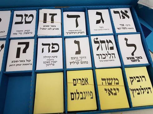 פתקי הצבעה, בחירות מקומיות באר שבע 2018. צילום: יגאל ברמן
