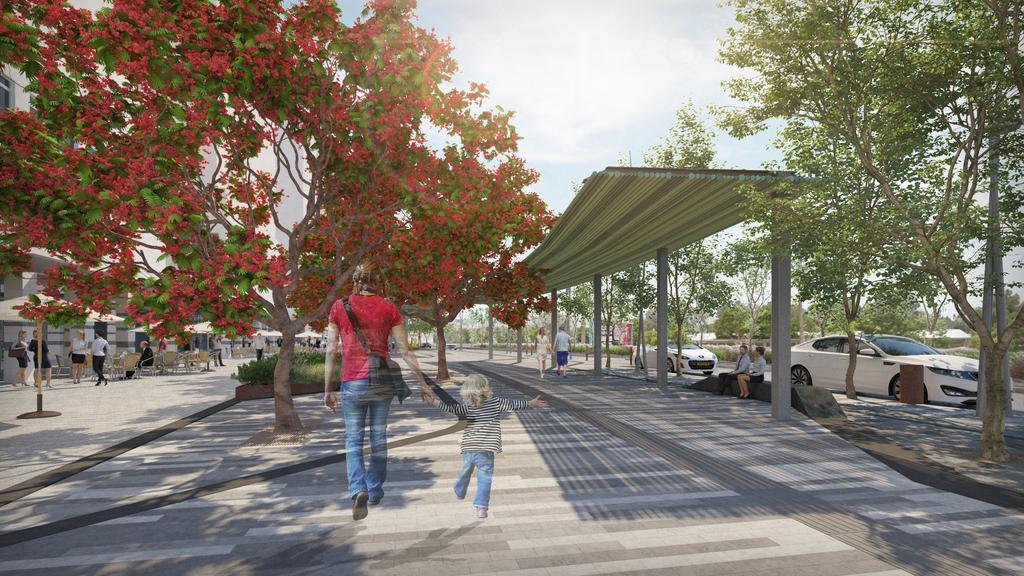 שדרות רגר, הדמיה באדיבות משרד צור וולף אדריכלי נוף