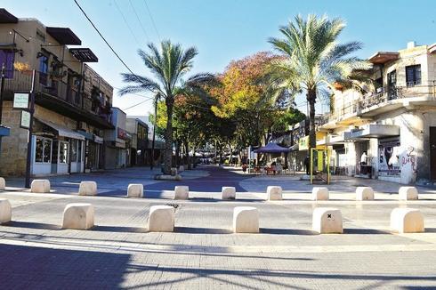 """מדרחוב קק""""ל בעיר העתיקה בבאר שבע. צילום: הרצל יוסף"""