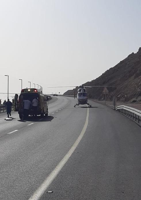 """מרתון ארץ ים המלח. צילום: תיעוד מבצעי מד""""א"""