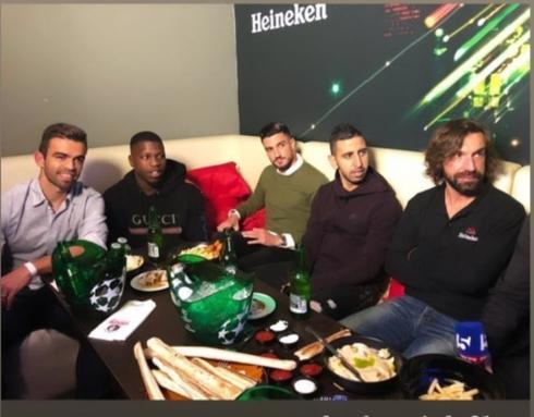 אנדראה פירלו, מרואן קבהא, ניב זריהן, נייג'ל האסלביינק ומיגל ויטור. צילום פרטי