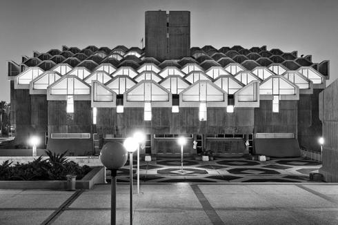 """הספרייה המרכזית ע""""ש ארן באוניברסיטת בן גוריון. צילום: אלי סינגלובסקי"""