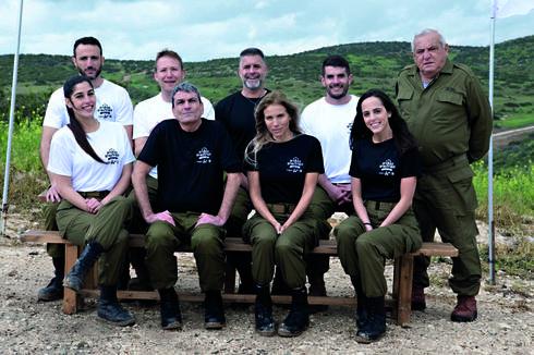 """משתתפי נבחרת המילואים של ישראל. צילום: דובר צה""""ל (גיליון 19.04.19)"""