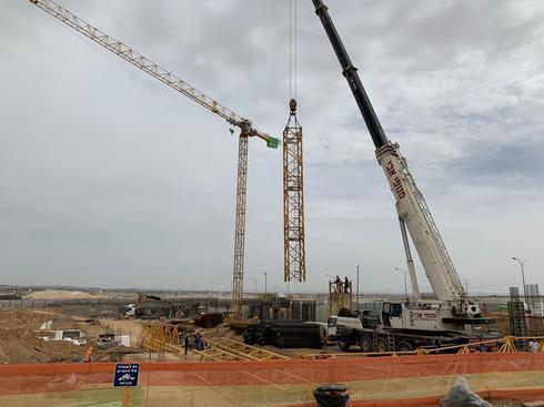 עבודות בנייה בשטח הפרויקט. צילום: יחסי ציבור, באר שבע טאצ'