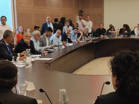 דיון בוועדת הכספים בכנסת. צילום: דוברות המועצה האזורית אשכול
