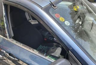 הרכב שנפרץ. צילום: דוברות איחוד הצלה