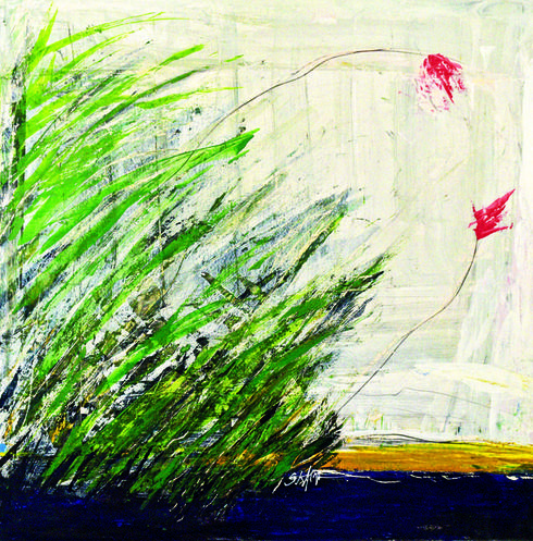 אחת מיצירותיו של אלקרא   צילום: נחום סגל