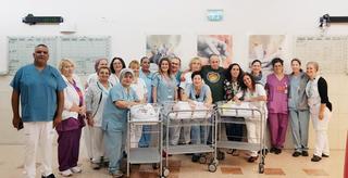 צוות חדר לידה במרכז סבן למיילדות בסורוקה   צילום: דוברות סורוקה