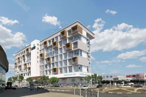 מלון במתחם מבנה בבאר שבע בתכנון מרש אדריכלים | הדמייה: אול אין