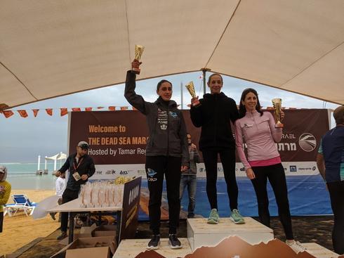 """הזוכות במירוץ הנשים. צילום: יח""""צ המועצה האזורית תמר"""